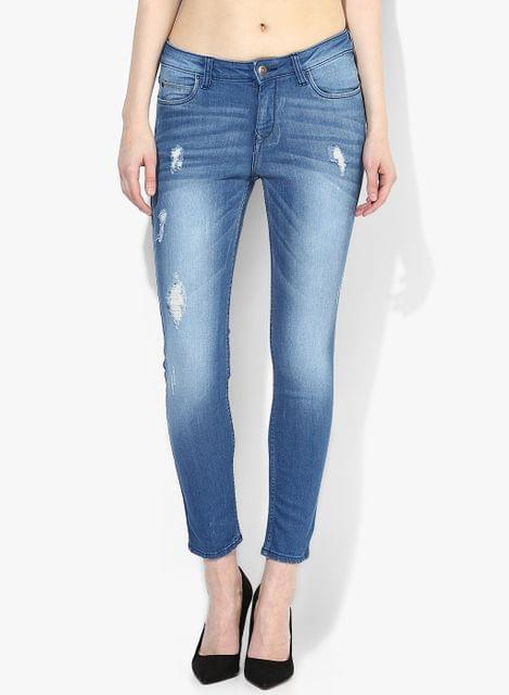 London Looks Ankle Length Denim Jeans
