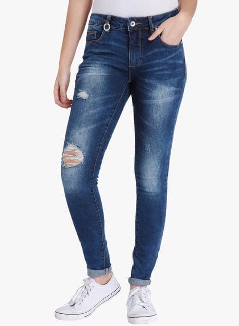 London Looks Ripped Denim Jeans