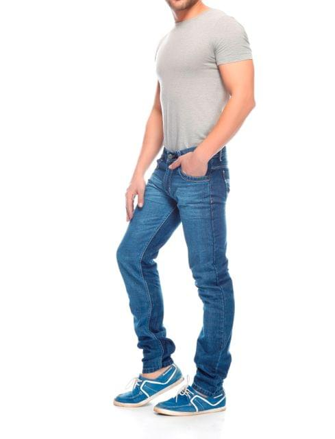 London Looks Blue Slim Fit Jeans