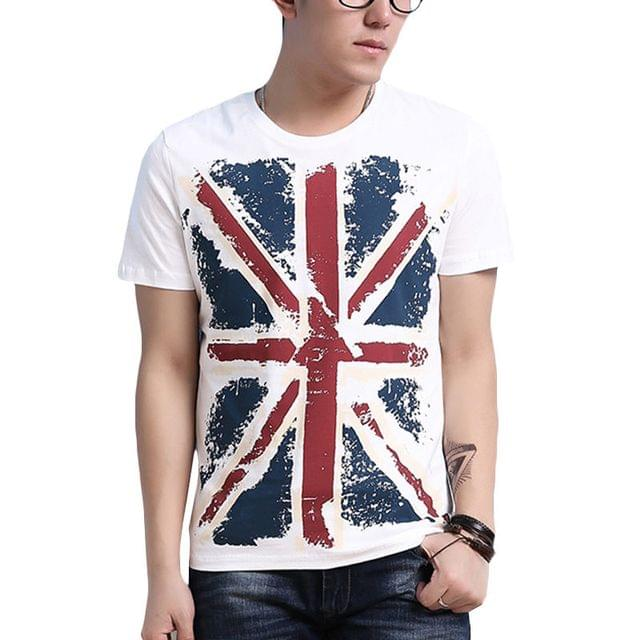 London Looks UK Flag Print Men's T -Shirt