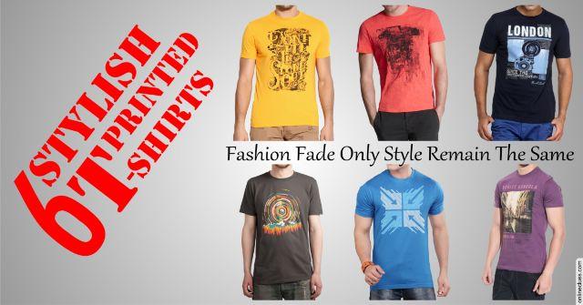 London Looks Combo Of 6 Stylish Printed T-Shirts !