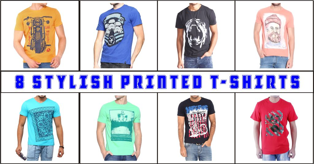 London Looks Combo Of 8 Stylish Printed T-Shirts !