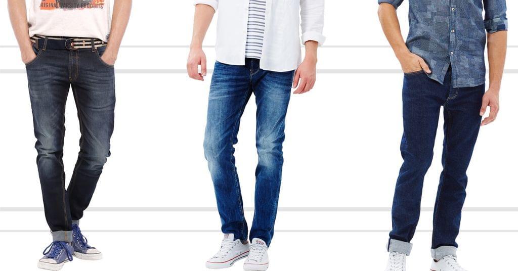 London Looks 3 Men Slim Fit Distressed Denim Jeans