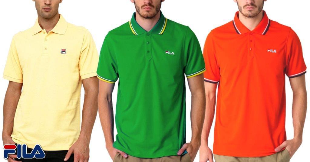 FILA Men's Polo T-shirt (Pack Of 3)