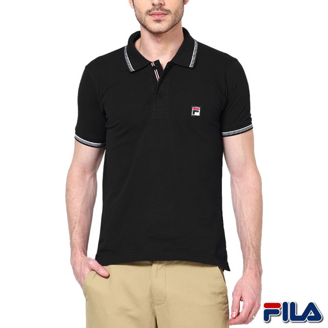 FILA Men's Black Polo T-shirt ! 30% Discount!