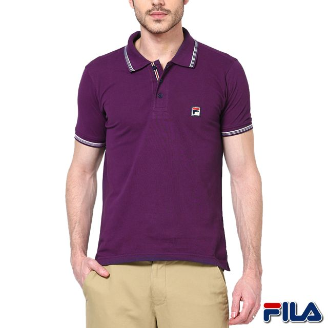 FILA Men's Purple Polo T-shirt ! 30% Discount!