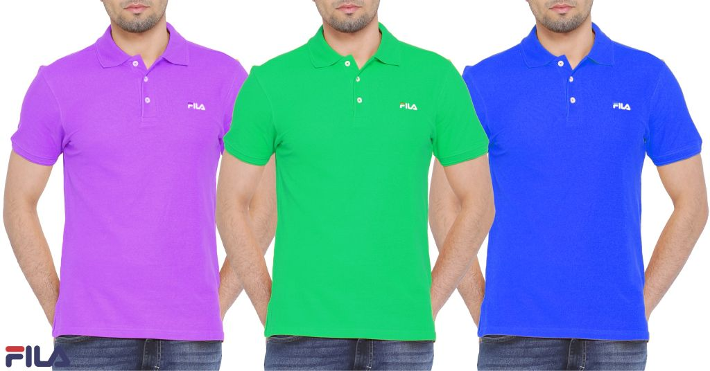 FILA Men Polo T-shirts (Pack Of 3)