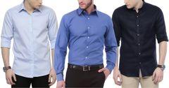 Original London Looks Branded Shirts (Pack Of 3)