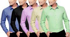 Original London Looks Cotton Shirts (Set Of 5 )