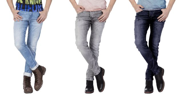 London Looks Denim Slim Fit Jeans (Pack Of 3)