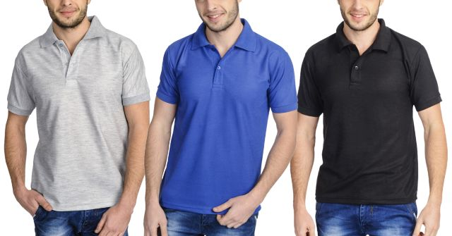 London Looks Polo Tees (Set Of 3 )