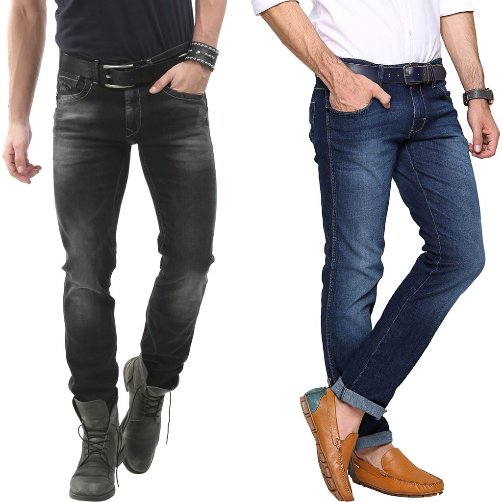 LONDON LOOKS Slim Fit Denim Jeans Offer Buy 1 Get 1 Free!