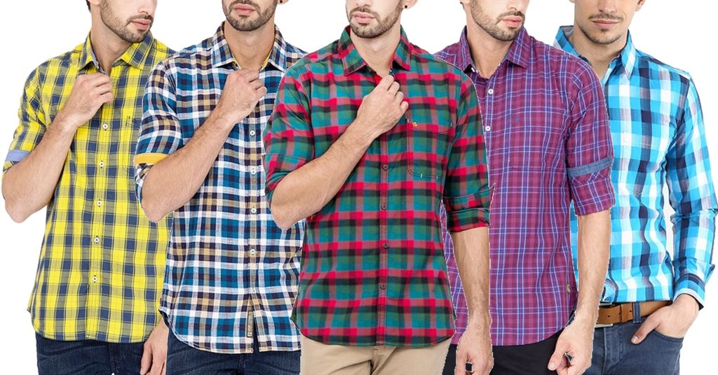 LONDON LOOKS Check Shirt (Pack Of 5)
