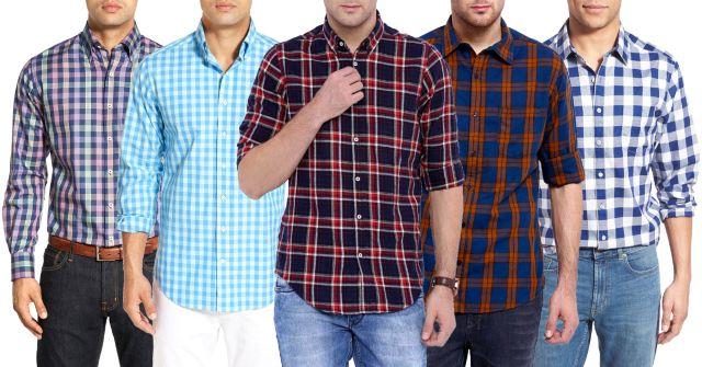 LONDON lOOKS Fusion Of 5 Check Shirt !
