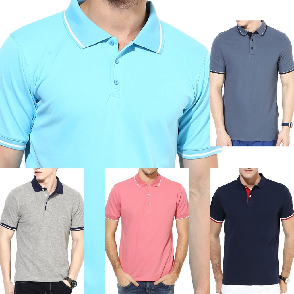 LONDON Looks Coloured 5 Polo T-shirts !