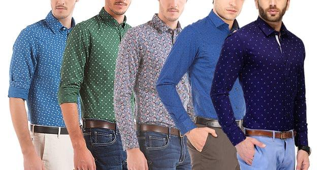 London Looks 5 Branded Printed Men's Cotton Shirts!
