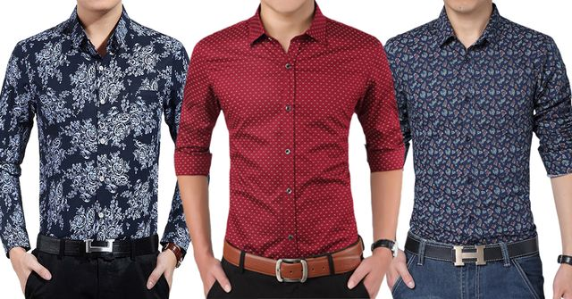 London Looks Combo Of Men's 3 Printed Shirts !