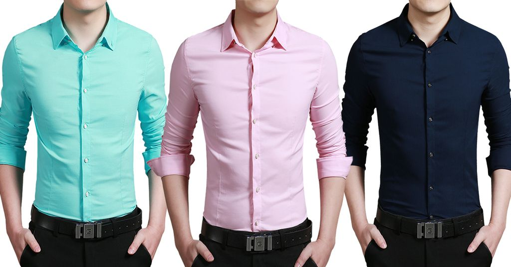 London Looks Men's 3 Casual Solid Shirts!