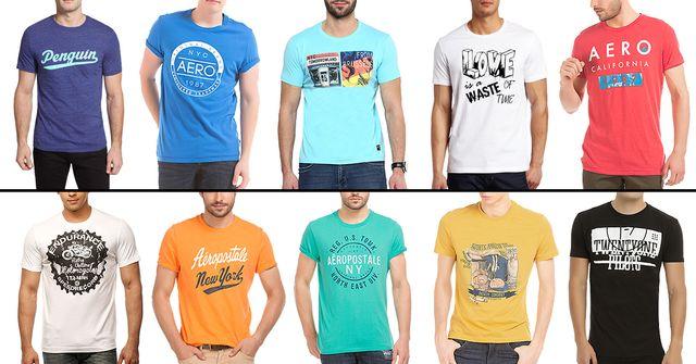 London Looks Combo 10 Stylish Printed Round Neck T-Shirts !