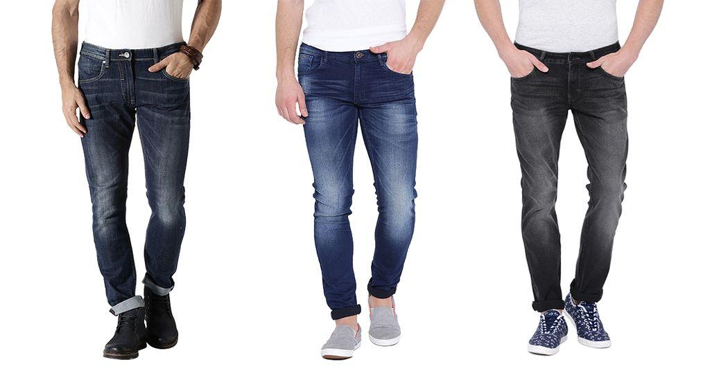 London Looks Men's 3 Slim-Fit Denim Jeans!