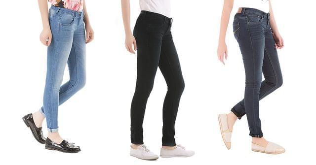 London Looks Women's 3 Skinny-Fit Denim Jeans !