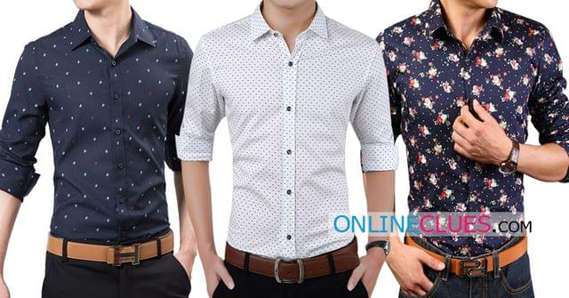 London Looks Men's 3 Printed Cotton Casual Shirts !