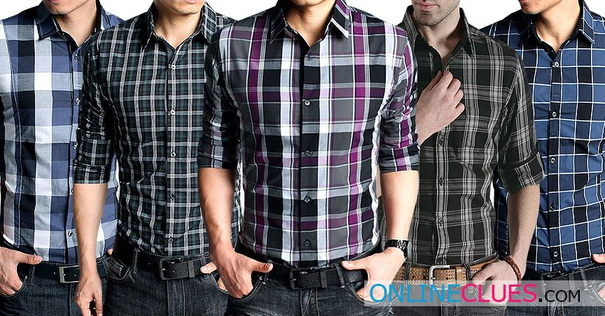 London Looks 5 Men's Cotton Check Shirts!