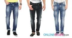 London Looks Men's 3 Combo Of Comfort-Fit Denim Jeans!