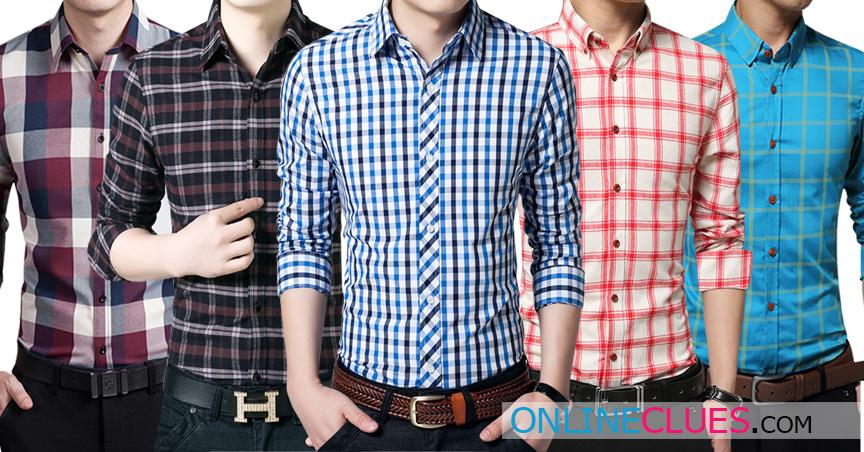 London Looks Men's 5 Checkered Cotton Shirts
