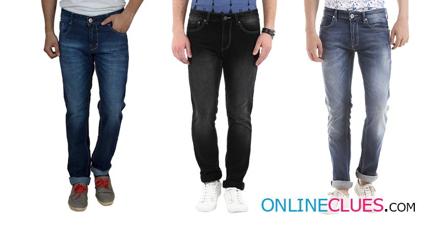 London Looks Brand Men's 3 Combo Of Skinny-Fit Denim Jeans!