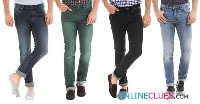 London Looks Brand Men's 4 Combo of Slim-Fit Denim Jeans