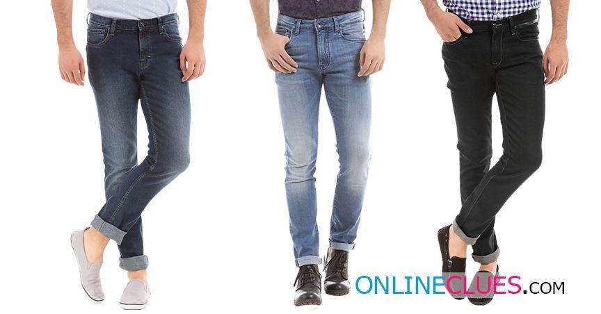 London Looks Branded Men's 3 Combo Of Slim-Fit Denim Jeans !