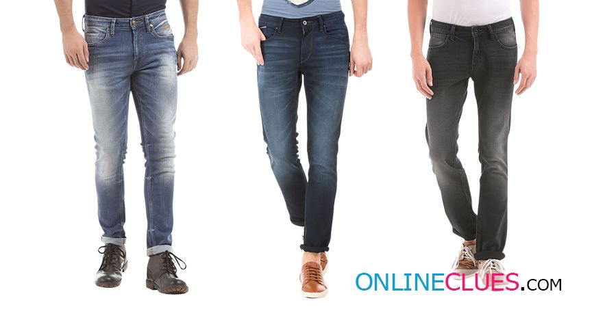 London Looks Branded Men's 3 Combo Of Standard-Fit Denim Jeans !