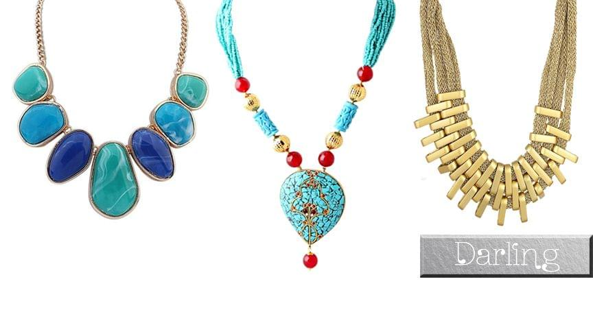 Branded Darling Multicolour Funky Style Necklace Set !