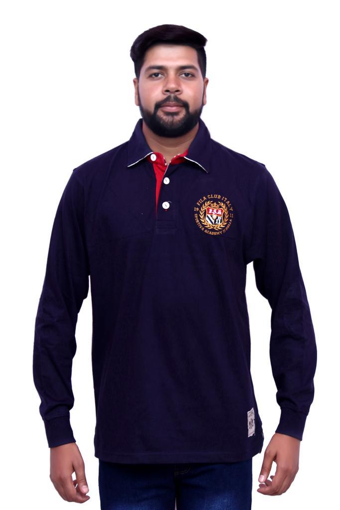 Fila Men's Full Sleeve Navy Blue T-Shirts !
