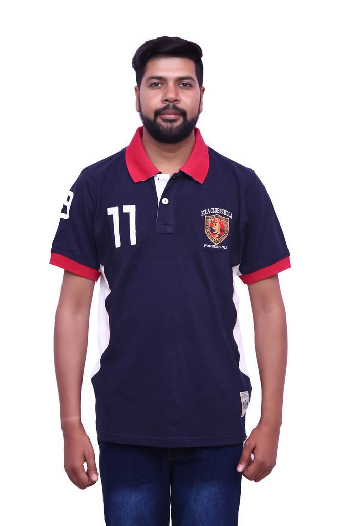 FILA Men's Navy-Blue Half Sleeve T-shirt!