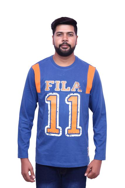 Fila Men's Full Sleeve Dark Blue T-Shirts !