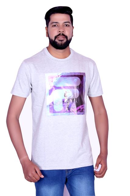 FILA Men's Light-Purple Half Sleeve T-shirt!