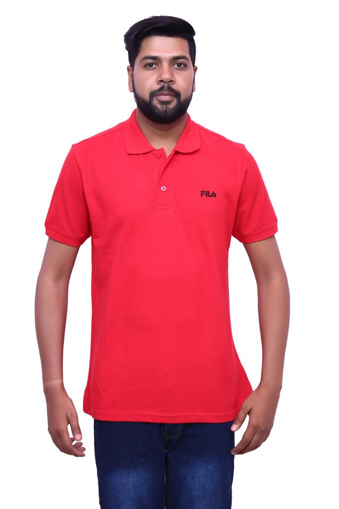 FILA Men's Red Half Sleeve T-shirt!