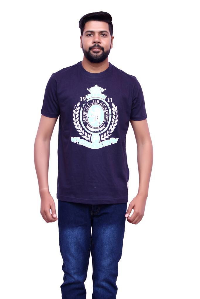 Fila Men's Half Sleeve Dark Blue T-Shirts !