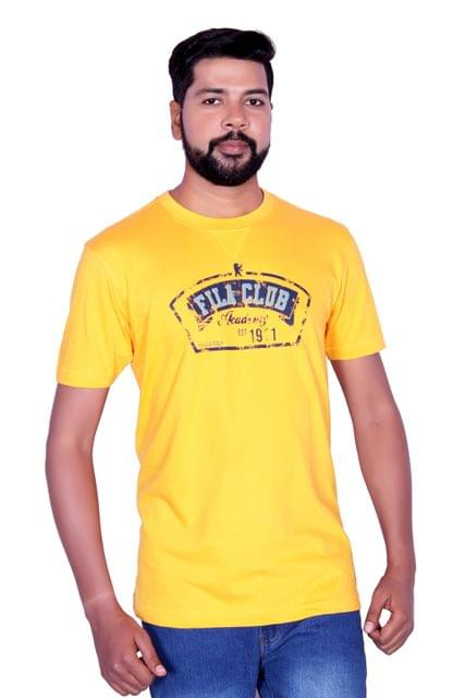 Fila Men's Half Sleeve Yellow T-Shirts !