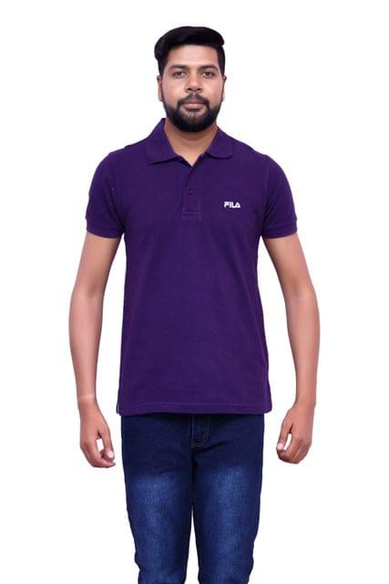FILA Men's Purple Half Sleeve T-shirt!