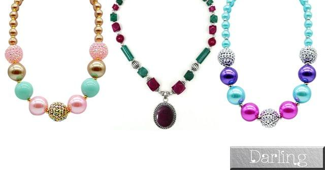 Branded Darling Multicolour Funky Style Stone Necklace Set !