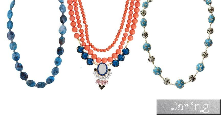 Darling Brand - 3 Colourful Funky Style Stone Necklace Sets !