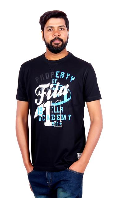 FILA Men's Half Sleeve Black T-Shirt!