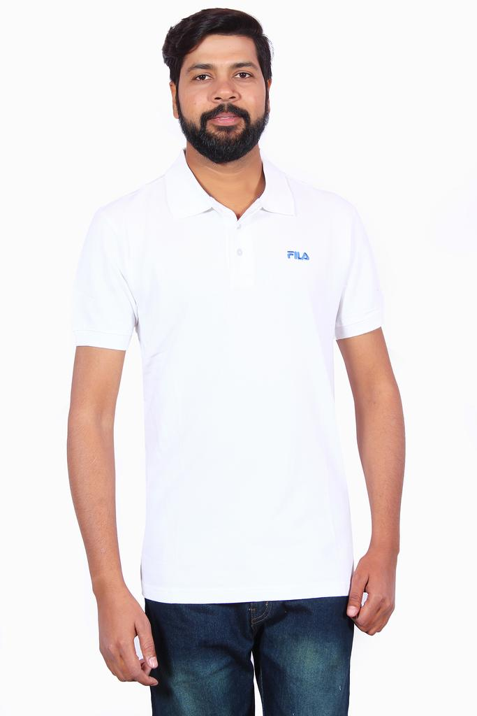 FILA Men's Half Sleeve White T-Shirt!