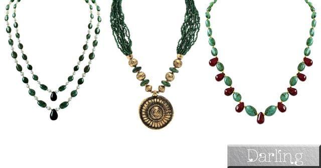 Darling Brand Girl's 3 Stylish Necklace Set !