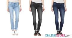 London Looks Women's 3 Slim-Fit Mid Rise Denims