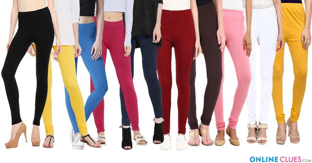London Looks Multi color Women's Cotton Leggings (Combo Of 10)