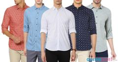 London Looks Brand 5 Full Sleeve Printed Cotton Shirts